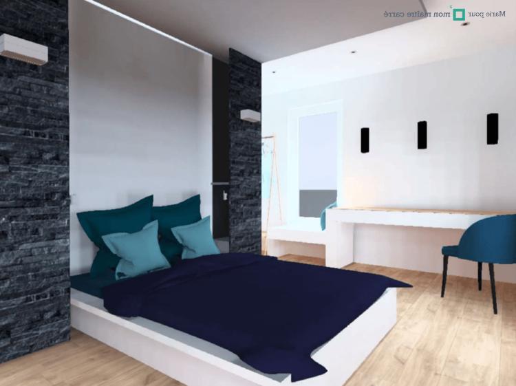 COMFORIUM Ensemble 4 pièces pour chambre à coucher romantique 90x200 cm coloris blanc avec armoire 3