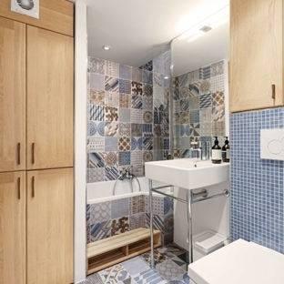 carrelage ciment salle de bain petite salle de bain moderne carrelage effet carreaux de ciment petite