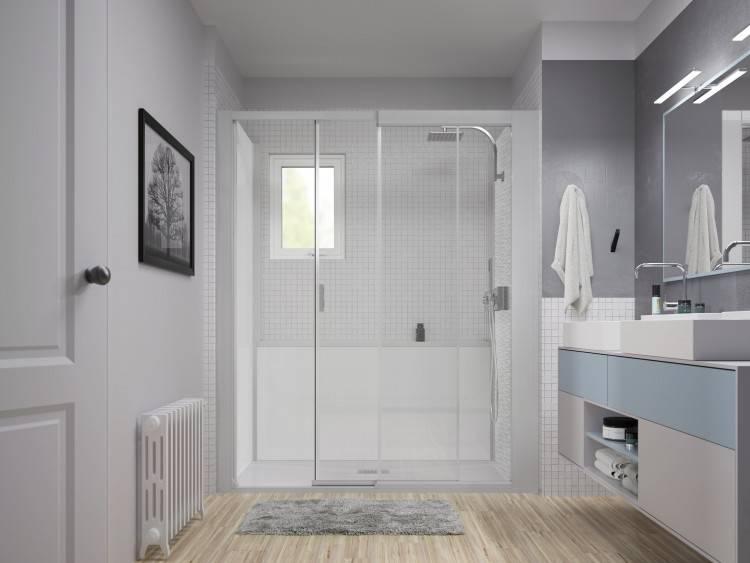 salle de bains familiale moderne et ambitieuse