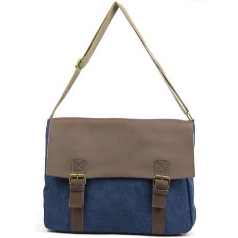 Unique OH MY BAG Sac à Main bandoulière femme en cuir à franges(Bleu, Unique