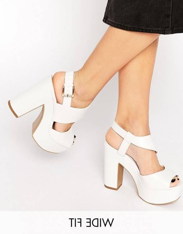Chaussures à talons blanches, hauts blanches, talons idéales pour les femmes chaussures Bow Tie Point chaussures simples, chaussures