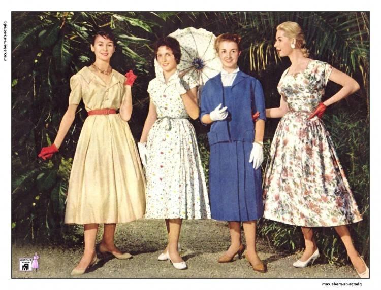 Mode Vintage Des Années 50 Blog De Mode Vintage En Relation Old  Fashioned Vetement Femme Année