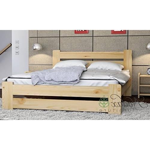 Nodax Lit en pin massif Meubles de chambre à coucher lit king size 1 5 m