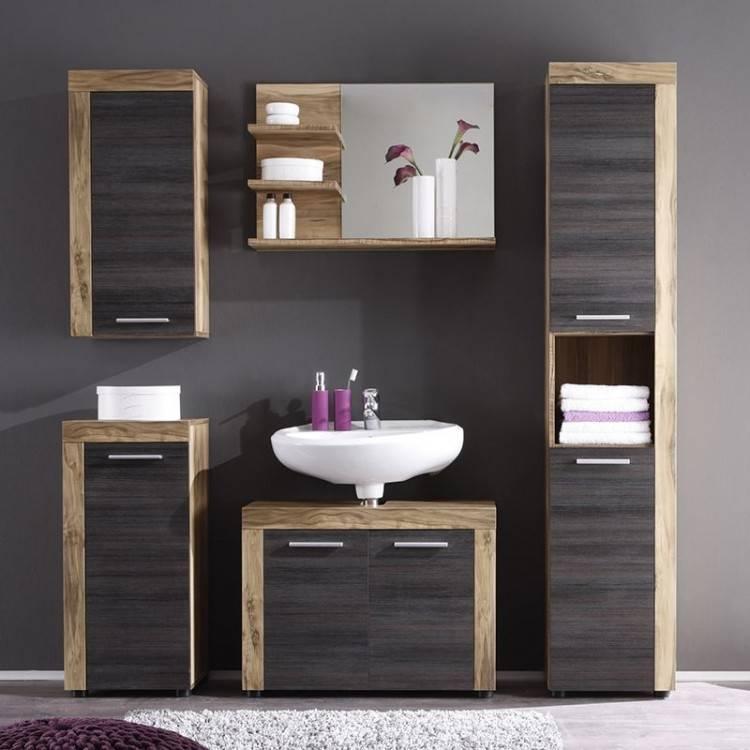 Ensemble de meubles de salle de bain gris modernes DIS800AGT