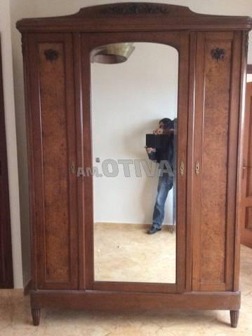 Armoire 2 Portes Coulissantes Verona Blanche Laquée Avec Miroirs