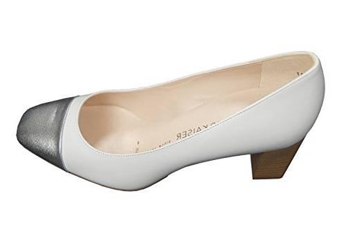 Chaussures à talons blanche en cuir