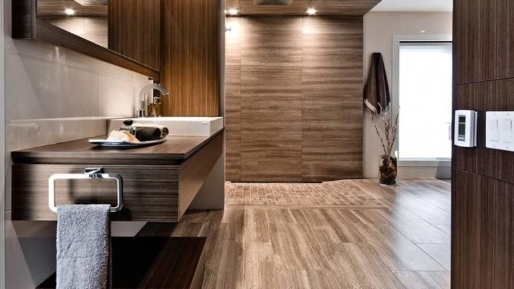 Intérieur d'une salle de bains moderne, au design classique