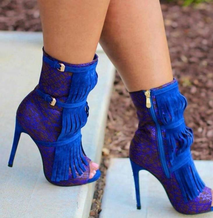 Evita Shoes, Chaussures À Talon Femme Bleu Roi