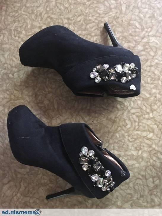 Botte de neige femme chaussures à talons hauts sexy rivet cheville bottes  pour femmes bottes de