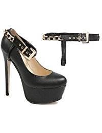Sunvo Amovible Arc Chaussures Sangles Lacets Bande Ceintures pour Tenue  Lâche Haute Chaussures À Talons Hauts