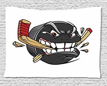 er Sports Stickers muraux de Hockey sur Glace pour garçons Stickers  Chambre à Coucher