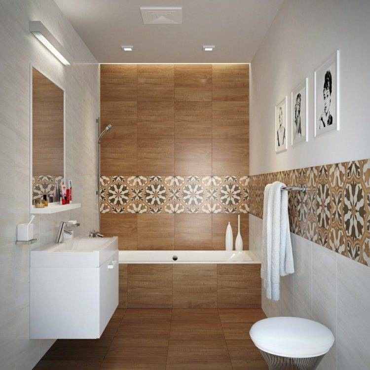design interieur salle bain ractro carrelage mural mactro frise avec de  meubles et dacco en 55