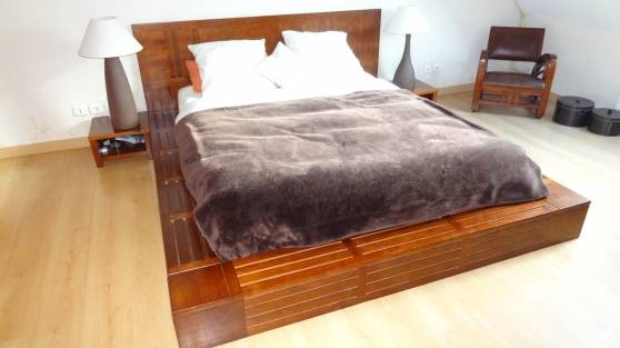 Décoration chambre à coucher bois