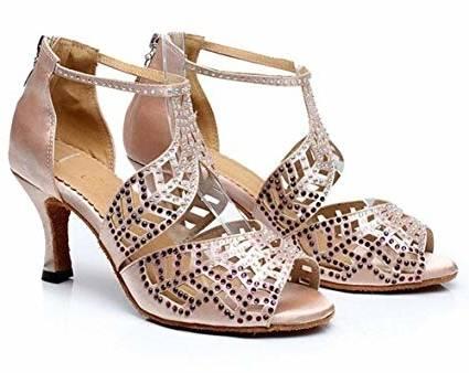 Acheter Chaussures De Danse, Chaussures À Talons Hauts Pour Femmes Adultes Modernes Latines Cha Cha Lombardi Blanches Nouveau Printemps Et Été De $31