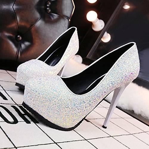 AIURBAG Femme Chaussures à Talons Confort Polyuréthane Printemps Décontracté Confort Blanc Noir Rose 10 à 12