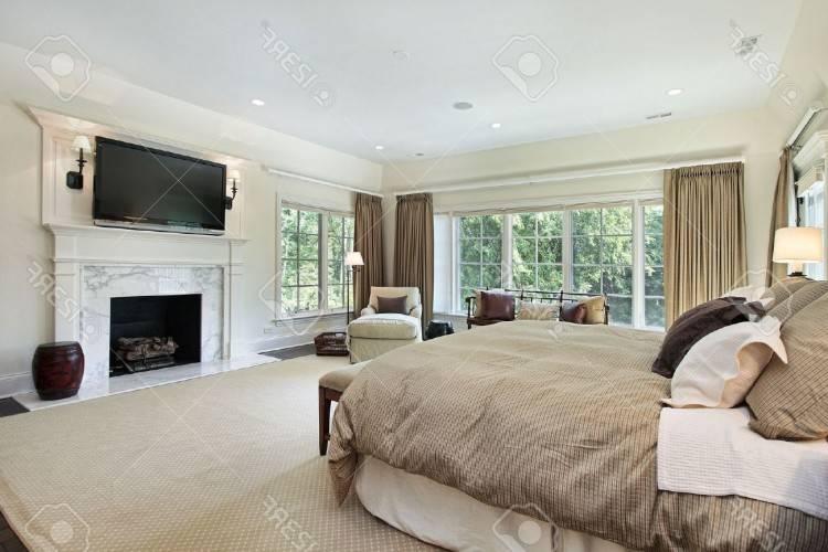 chambres coucher luxe tabouret cuir blanc capitonnage lit tapis vitre vue