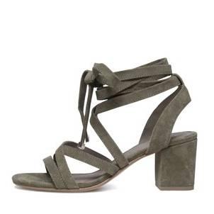 Chaussures à talon beige daim