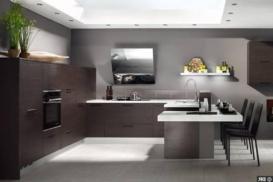Un modèle de cuisine en bois moderne qui incarne l'élégance et le  raffinement