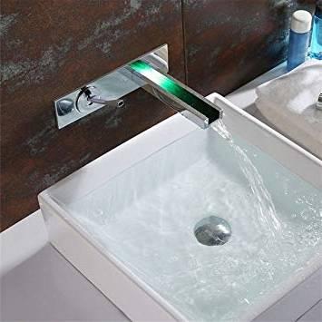 lavabo évier mitigeur chrome cascade robinet Salle laiton Salle robinet de bains moderne 529be1
