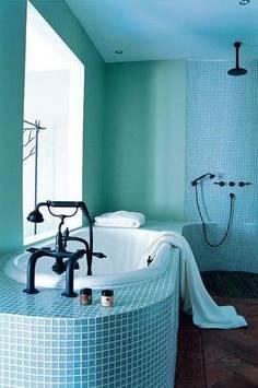 salle de bain bleu et gris photo carrelage salle bain gris mosaique bleu sanitaire blanc de