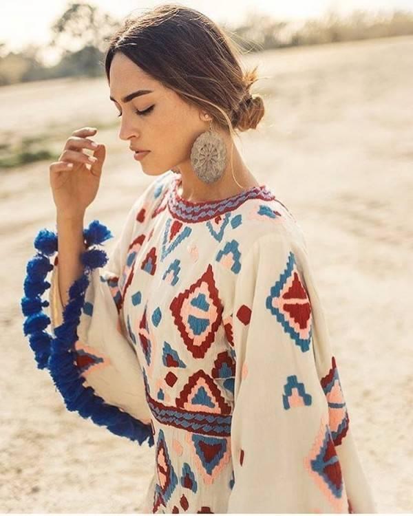Robe hippie chic femme ronde