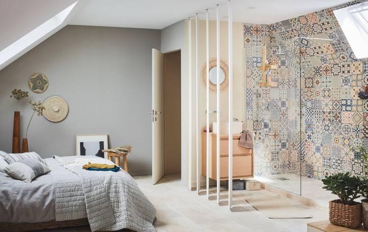 great excellent amenagement chambre parentale avec salle bain on decoration  d interieur moderne suite parentale droite idees x with amenagement chambre