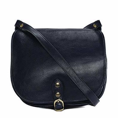 OH MY BAG Sac à Main CUIR souple femme cartouchière(Bleu,