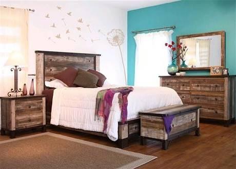 Chambre à coucher cottage chêne