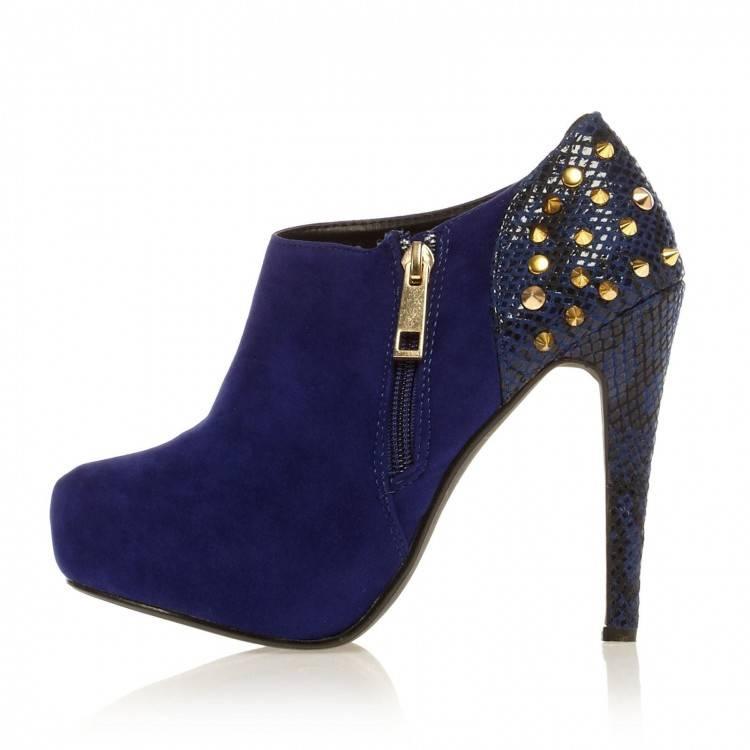 Charmant Bleu Roi Soirée Chaussures Femmes 2018 Cristal Faux Diamant Bride Cheville 8 cm Talons Aiguilles