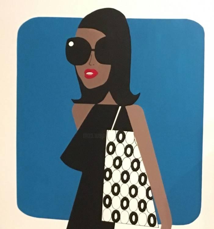 Papier italien Mode femme années 70
