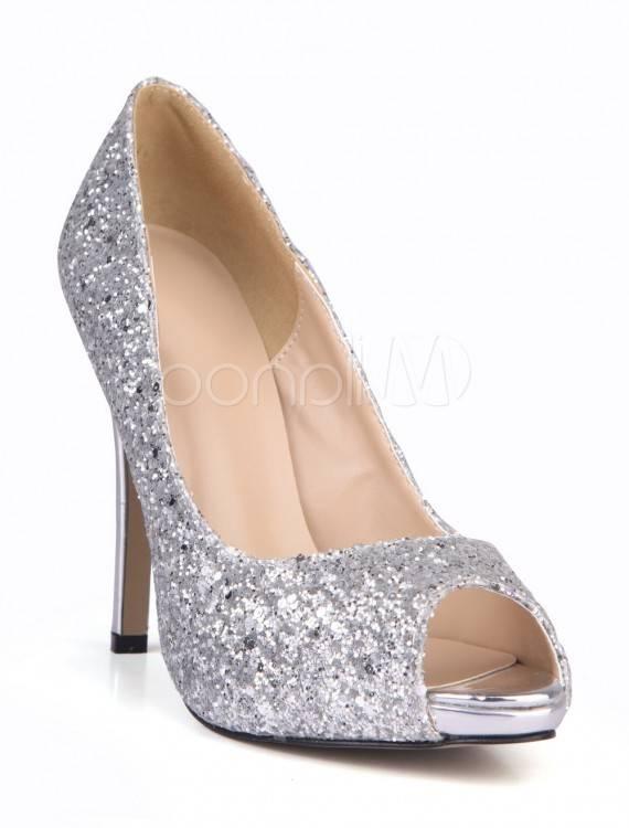 Chaussure Femme Mode Bottine à talon transparent, bout ouvert