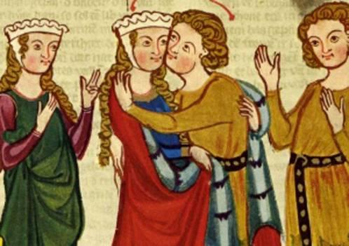 Toujours plus haut : les coiffes architecturées à la fin du Moyen Âge, René d'Anjou, Le Livre des tournois, milieu du XVe s