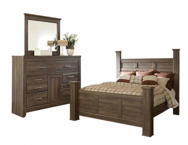 Rendu 3D : illustration de grande chambre à coucher spacieuse dans des couleurs claires douces grand double lit confortable dans la chambre à coucher