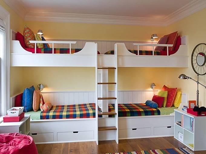 de chambre à coucher Nomad double, 3 mcx, érable/blanc