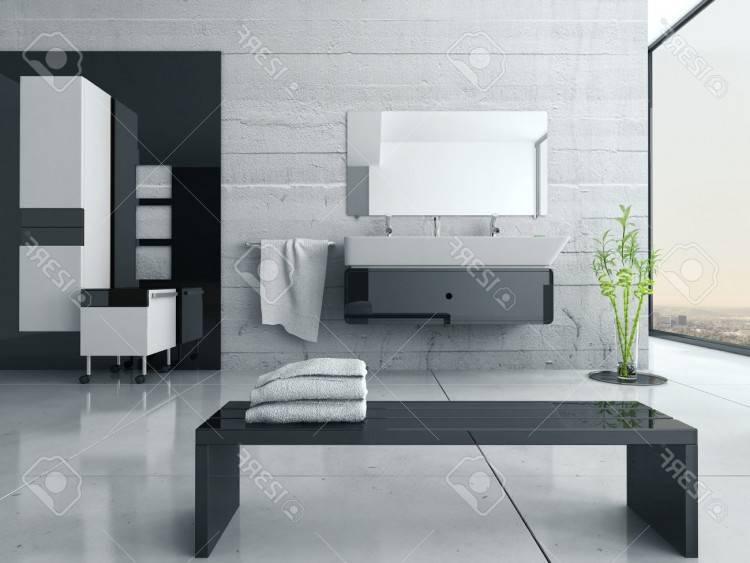 Salle De Bain Moderne Noir Et Blanc Maison Design Nazpo Com Avec Salle De Bains Toilettes