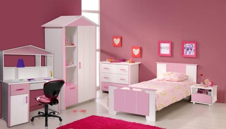 Armoire chambre à coucher fille blanc brillant