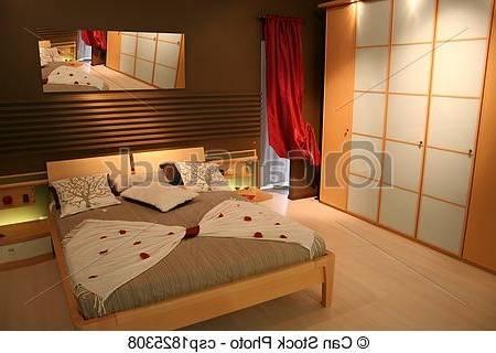 Lit 140x190 cm + armoire + commode + 2 chevets