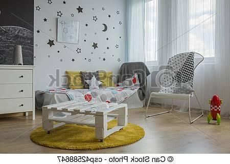 Chambre à Coucher Jaune Et Gris | Chambre Gris Jaune Bleu Deco Ado