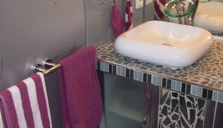 Salle de bain mauve 3