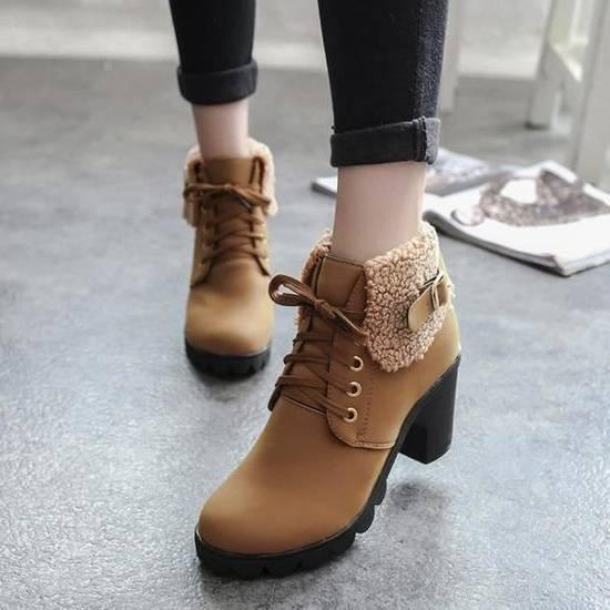 chaussures petit talon pour femme retro tendance vintage a lacets