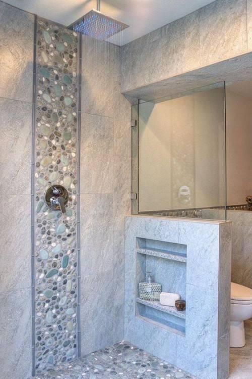 Carrelage Galet Salle De Bain: Joli carrelage galet salle de bain à  salle de bain