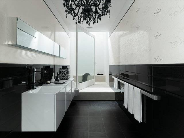 Salle de bain noire et douche ardoise | décoration, salle de bain, bathroom