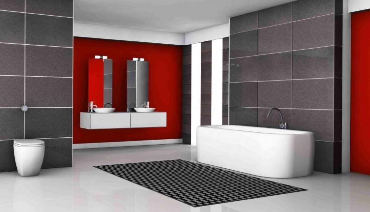faience rouge salle de bain on decoration d interieur moderne chaioscom idees x with salle de