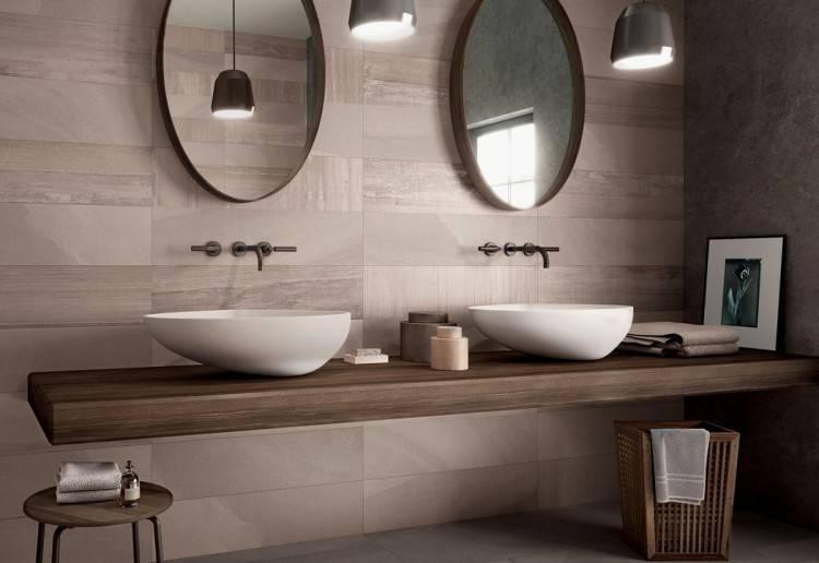 petite salle de bain moderne carrelage blanc joints rouges sol noir Petite salle de bain moderne en 70 idées exclusives témoignant de sa polyvalence