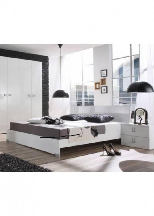 Chambre à coucher complète DUBLIN adulte design blanche