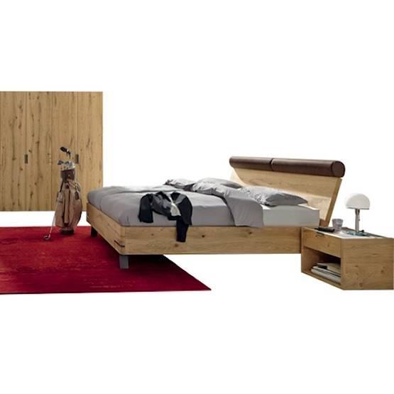 COMFORIUM Ensemble chambre à coucher romantique coloris truffe et porcelaine avec armoire 3 portes coulissantes et