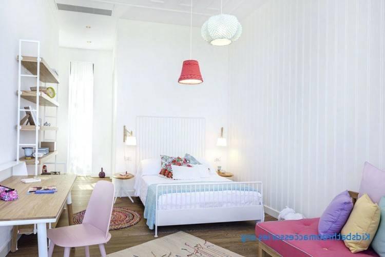 E /chambre à coucher de fille blanc et Rose en promotion by mobilia déco Tunis
