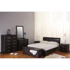 CHAMBRE COMPLÈTE Ensemble design pour chambre à coucher LINA noir