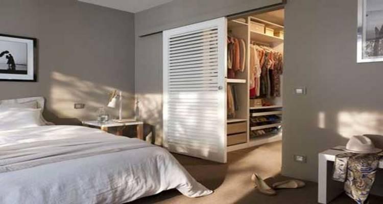 Chambre avec dressing pour gagner de l'espace – 30 photos sympas | Chambre à coucher