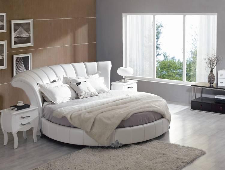 Meuble moderne en simili cuir pour votre chambre à coucher Blanc